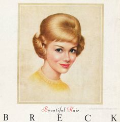 The Breck Girl  A short history of the Breck Girl  #hair #Breck # history #beauty    vintage illustration for Breck Shampoo 1963