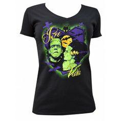 Por Vida by Charlie Medina Women's Black Tee Shirt Tattoo Art - Purple Leopard Boutique