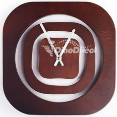 Shop homadorns simple home decor numberless wood square wall clock free shipping online at DinoDirect store.