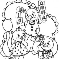 the ogre triplets shreks little babies coloring pages