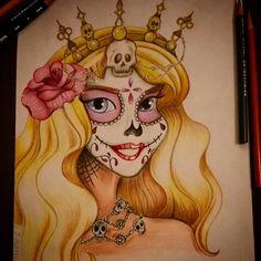 My Princess Aurora/sleeping beauty as a sugar skull girl