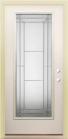 mastercraft florence x primed steel fulllite prehung exterior door left inswing