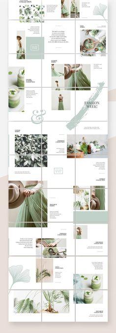 Beautiful logos, web design kits and watercolors by SwitzerShop Instagram Design, Instagram Feed Layout, Feeds Instagram, Instagram Grid, Instagram Post Template, Instagram Posts, Instagram Banner, Web Design, Grid Design