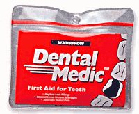 Dental Medic: Replace lost fillings, loose crowns and relieve dental pain with this handy kit. A temporary fix until you can get to the dentist.