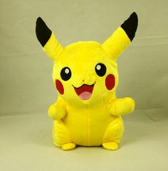 Hey, I found this really awesome Etsy listing at https://www.etsy.com/listing/197829782/pikachu-pokemon-plush-doll-stuffed-soft
