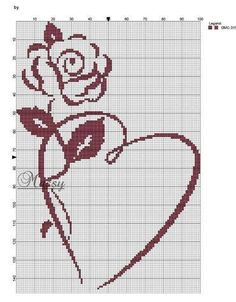 Gallery.ru / Foto # 20 - Corazones (esquema) - Olgakam Wedding Cross Stitch, Cross Stitch Heart, Cross Stitch Borders, Cross Stitch Flowers, Cross Stitch Designs, Cross Stitching, Cross Stitch Embroidery, Cross Stitch Patterns, Crochet Chart