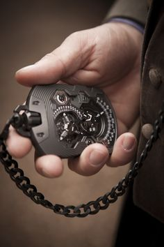 The Baumgartner & Frei Urwerk UR-1001 pocket watch blurs the line between tech and dapper.
