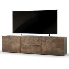 TV Lowboard Board Schrank Tisch Möbel Regal Unterschrank Massa Stahlfarben antik in Möbel & Wohnen, Möbel, TV- & HiFi-Tische | eBay