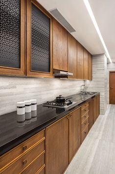 We is an award-winning architecture & interior design studio in Mumbai, India providing customised design solutions for residential and commercial projects. Kitchen Cupboard Designs, Kitchen Room Design, Kitchen Cabinetry, Modern Kitchen Design, Home Decor Kitchen, Interior Design Kitchen, Home Kitchens, Open Kitchen And Living Room, Kitchen Modular