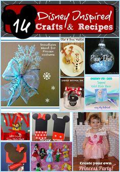Disney Inspired Crafts & Recipes