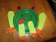 Red eyed tree frog craft