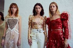 Backstage at Rodarte SS17.