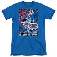 Superman - Meltdown Adult Ringer T- Shirt