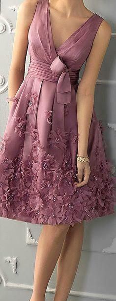 Rosa Clará dress in mauve (Aire Barcelona Abendkleid Modell Trendy Dresses, Elegant Dresses, Vintage Dresses, Beautiful Dresses, Nice Dresses, Casual Dresses, Short Dresses, 1950s Dresses, Vintage Clothing