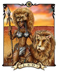 black women paintings by leo   women of the zodiac leo by gaijyn digital art drawings paintings ...