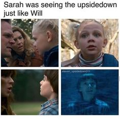 This also fits the theory that Sarah is alive but was just kidnapped by Hawkins maybe her power was having visions like will did