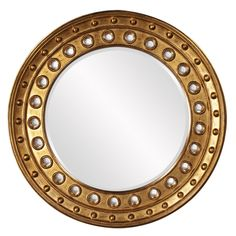 Calypso Gold Round Mirror | Howard Elliott | Home Gallery Stores