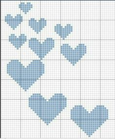 "Instagram. PICTURE ONLY. Filet crochet diagram ""hearts"""