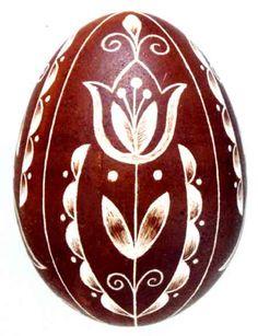Karcolt tojás - Scratch carved egg (49)