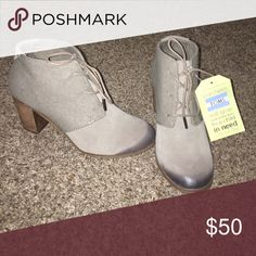 Toms Lunata Lace-up Boots Toms Lunata Lace-up Boots  Brand new never Worn!!!   Size 9  Taupe Suede  OPEN TO OFFERS Toms Shoes Ankle Boots & Booties