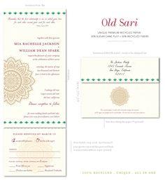 Indian wedding invitations Old Sari