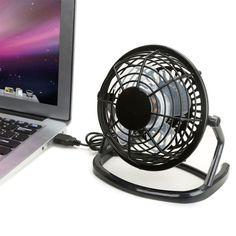 Home Appliances Hearty Notebook Laptop Computer Portable Super Mute Pc Usb Cooler Desk Mini Fan Black H