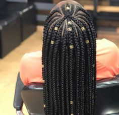 Top 60 All the Rage Looks with Long Box Braids - Hairstyles Trends Single Braids Hairstyles, Braided Hairstyles For Black Women, Flower Girl Hairstyles, African Braids Hairstyles, Protective Hairstyles, Hairstyles 2018, Protective Styles, Natural Braided Hairstyles, Fall Hairstyles