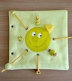 Made by Irinelli: Развивающая книжка: все странички  Ribbon pull and caterpillar