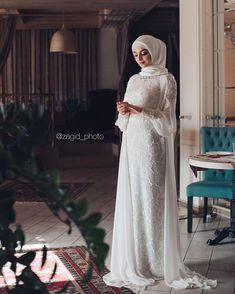 Likes, 115 Comments - Салихат Касумова ( . Muslim Wedding Gown, Malay Wedding Dress, Hijabi Wedding, Wedding Hijab Styles, Wedding Robe, Kebaya Wedding, Muslimah Wedding Dress, Muslim Wedding Dresses, Muslim Dress