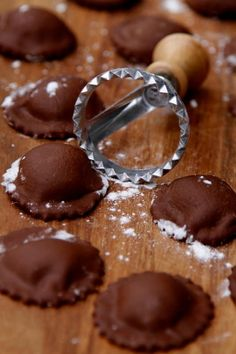 How to Make Chocolate Ravioli. Recipe is filled with mascarpone and vanilla.
