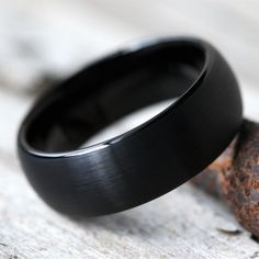 Wedding Ring For Him, Wedding Ring Bands, Black Tungsten Rings, Groom Ring, Dream Engagement Rings, Tungsten Wedding Bands, Black Rings, Metal Jewelry, Just In Case
