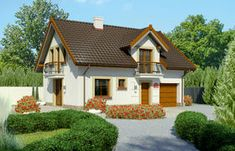 5 planuri de case mici, sub 100 mp - casamea. 100 M2, Cottage Style Homes, Small House Design, White Houses, Home Fashion, Curb Appeal, Home Projects, House Plans, Shed