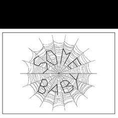 Charlottes web sign for shower