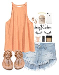 """""""It's been a while..."""" by carolinaolr17 ❤ liked on Polyvore featuring One Teaspoon, H&M, Tory Burch, Kendra Scott, NARS Cosmetics, Grace and Kate Spade"""