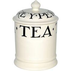 Emma Bridgewater Black toast 1pt tea storage jar