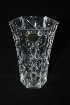 """Vintage Cristal France 24% Lead Crystal Glass Vase 5"""" x 3.25"""" FREE SHIPPING #Gifts"""