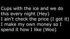Rae Sremmurd - No Type Onscreen Lyrics