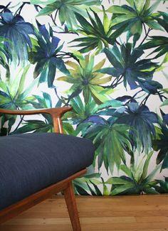 Shangri-La 2 fabric for floor cushions Tropical Upholstery Fabric, Tropical Fabric, Interior Concept, Interior Design, Home Beauty Salon, Fabric Houses, Shangri La, Open Plan Living, Floor Cushions