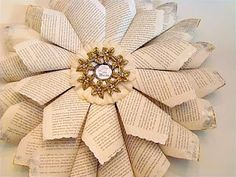 Book Page Wreath . indulgy.com