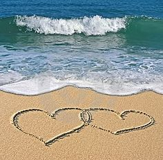 Hearts in the sand