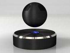 Davvero sorprendente il video che mostra in funzione Om/One, una cassa bluetooth in grado di restare sospesa a mezz'aria grazie ad un elettromagnete.