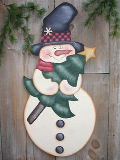 *SNOWMAN ~ Decorative Woodcraft & Tole Painting Pattern Packets by Heidi Markish Designs Christmas Snowman, Christmas Ornaments, Tole Painting Patterns, Wood Patterns, Henna Patterns, Happy Paintings, Christmas Paintings, Flower Fairies, Painting On Wood
