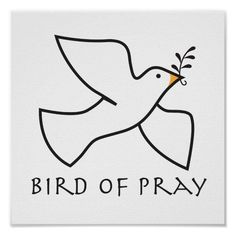 Peace Dove Tattoos, Bird Outline, Design Your Own Poster, Bird Quotes, Jesus Christ Images, Flock Of Birds, Personalized Wall Art, Custom Posters, Brian Christopher