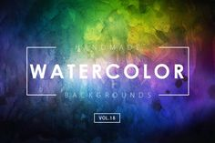 Handmade Watercolor Backgrounds Vol.18 by M-e-f