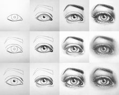 Realistic Portrait Drawing Tutorial: how to draw a realistic human eye www. Human Eye Drawing, Crying Eye Drawing, Eye Drawing Simple, Cry Drawing, Realistic Eye Drawing, Realistic Rose, How To Draw Realistic, Eye Drawing Tutorials, Drawing Techniques