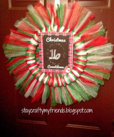 Easiest wreath to make, just tie tulle around wreath