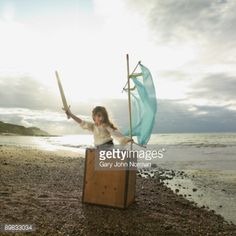 Stock Photo : Girl dressed as pirate
