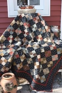 Mary's Four Patch Pattern---snuggle up.