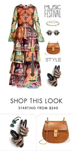 """""""Untitled #749"""" by modernmoda ❤ liked on Polyvore featuring Illesteva, Chloé, Jennifer Behr and A-Morir by Kerin Rose"""