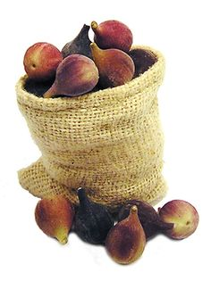 Dollhouse Miniature Sack of Figs 1:12 scale by EclecticKeev